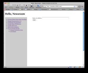 Hello, Newsroom home screen