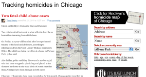 Chicago homicide tracker screenshot