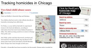 Chicago homicide tracker screenshot